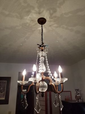 Chrystal and Glass Chandelier Hanging Light. for Sale in Pataskala, OH