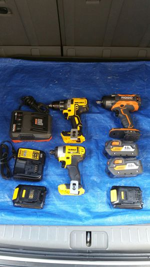 $450 ..Dewalt Set and Ridgid 1/2 impact wrench.... COMBO SET. COMBO for Sale in Evergreen, CO