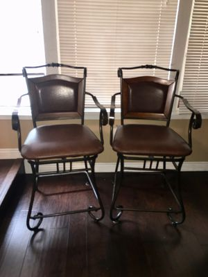 Iron leather stools for Sale in Irving, TX