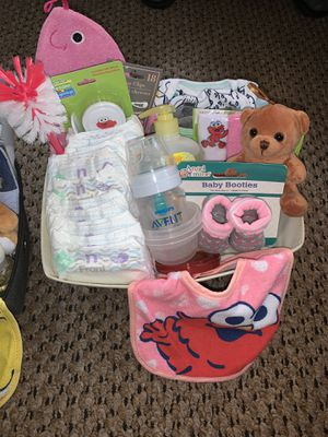 Baby Girl Gift Basket, Baby Shower Gift for Sale in Madison Heights, MI