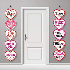 Romantic Valentines Day Decorations, Heart Banner Door Decor, Pink Red Romantic Conversation for Sale in New York, NY