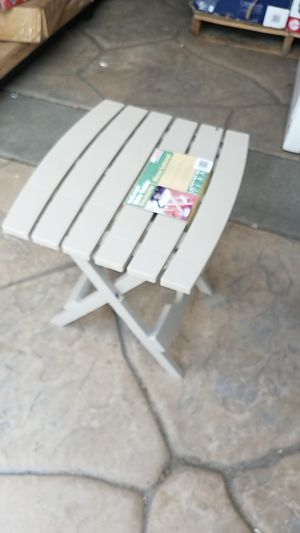 Quik Fold Desert Clay Patio Side Table, Adams USA, Brand New in Box C1 for Sale in San Diego, CA