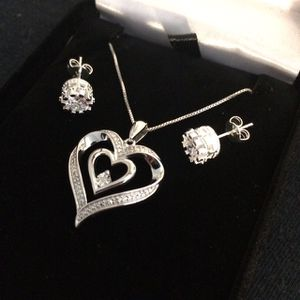 Kay Jeweler Diamond Necklace - 18 in - 925 - Free Earrings - Same Day Ship for Sale in Miami, FL