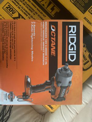 Rigid brushless 18 V6 more half inch impact wrench for Sale in Columbus, OH