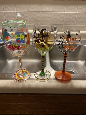 Assorted wine glasses and other glasses for Sale in ELKHART LAKE, WI