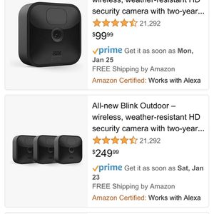 Blink Outdoor Wireless Camera Set Brand New for Sale in Perth Amboy, NJ