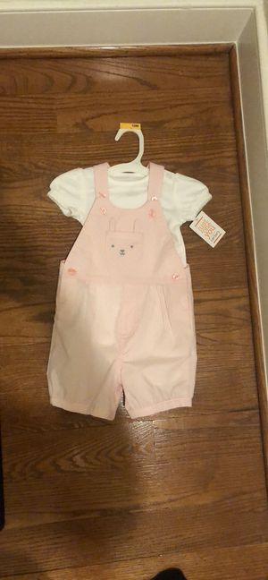 New with tags! Carter's 12 month pink overalls set for Sale in Alexandria, VA