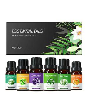 6 Natural Essential Fragrance Oil Set for Diffuser, 10ML(Tea Tree, Peppermint, Lavender, Eucalyptus, Lemon Grass, Orange) for Sale in Arlington, TX