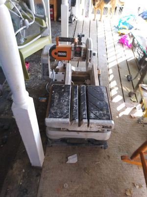 Rigid 10 in tile saw with table for Sale in Denver, CO