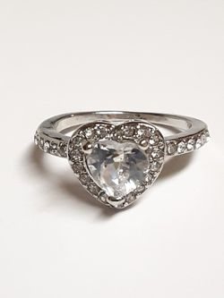 Size 8 Sterling Silver CZ Diamond Heart Ring for Sale in Fort Worth,  TX