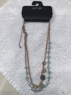 APT 9 Ladies Double Chain With Beads And Multicolored Crystals Necklace for Sale in Shepherdstown, WV