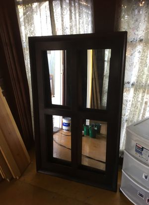 Mirror wooden frame like window 53 inches tall 33 wide $65 for Sale in Pico Rivera, CA