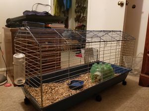 A Cage with accessories for a pets for Sale in Fort Washington, MD