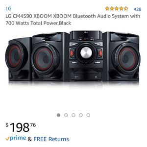 LG CM4590 XBOOM XBOOM Bluetooth Audio System with 700 Watts Total Power for Sale in Tampa, FL
