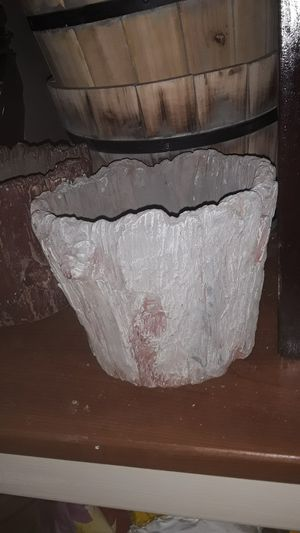 Cement flower pot for Sale in Carson, CA