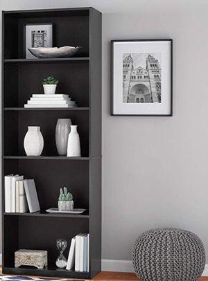 "New!! Bookcase, bookshelves, 71"" 5 shelf wide bookcase, organizer, storage unit, shelving display, living room furniture, black for Sale in Phoenix, AZ"
