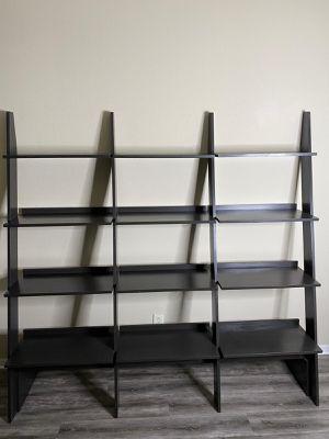 Wooden leaning shelf ladder 12-tier bookcase for Sale in Odessa, FL