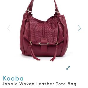 Kooba - Cherry Leather Tote bag - Gorgeous & New. $90 or best offer takes it. for Sale in Fort Lauderdale, FL