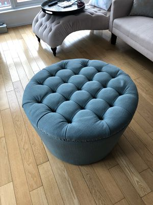 Sturdy round ottoman with ample storage for Sale in New York, NY