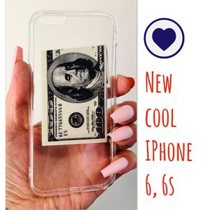 New cool regular iphone 6 or 6s case rubber Clear transparent MONEY hypebeast hype swag men's women's for Sale in San Bernardino, CA
