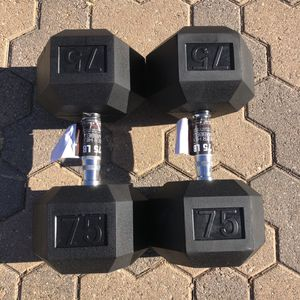 Rubber Hex Dumbbells (150 pounds) *BRAND NEW* for Sale in Palos Verdes Peninsula, CA