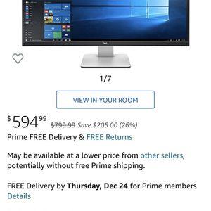 Dell 34 Inch Curved Wide Monitor for Sale in Miami, FL