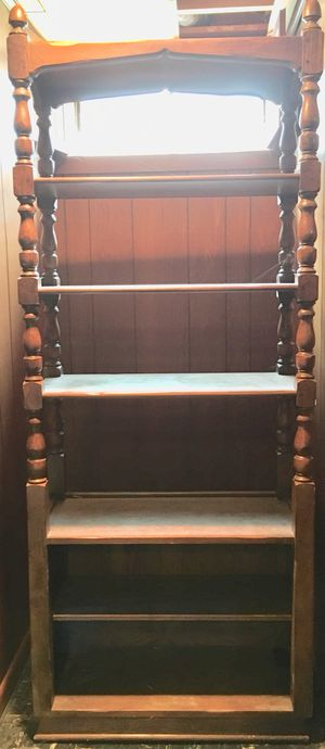 TALL WOOD SHELF- for Sale in Peoria, IL