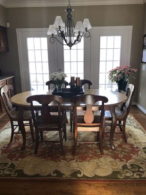 Two Tone Solid Maple Table and Chairs for Sale in Hudson, OH
