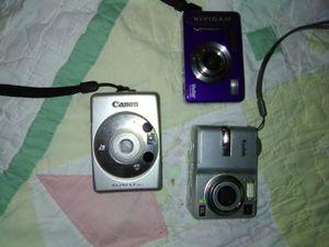 3 Digital cameras Kodak, vivatar & Canon for Sale in St. Louis, MO