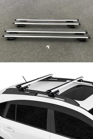"New in box 2 Sizes: (48"" for $40), (55"" for $45) Universal Car Cross Bar Top Luggage Roof Rack Cargo Carrier for Sale in Whittier, CA"