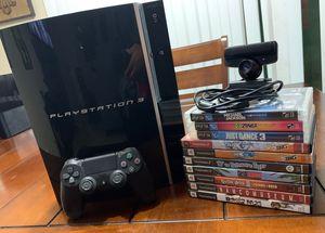 PS3 80GB 10 Games for Sale in El Cajon, CA