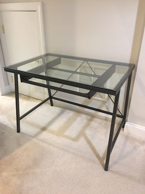CB2 glass and steel desk for Sale in Fairfax Station, VA