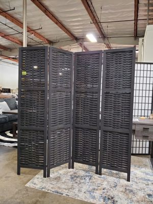 4 Panel Room Divider, Black for Sale in Santa Ana, CA