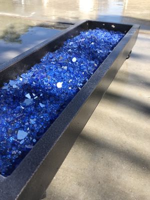Blue Reflective Fire Glass, 10 lbs MANY COLORS for Sale in Gilbert, AZ