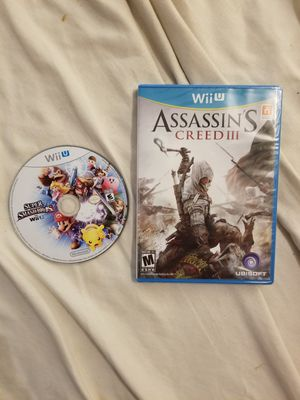 Wii U Smash Bros and sealed Assassin's Creed Nintendo Games OBO for Sale in Dallas, TX
