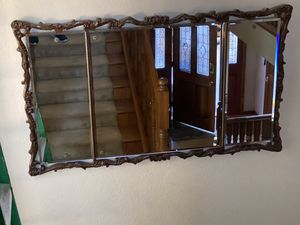 Large antique wood more mirror for Sale in Rossmoor, CA