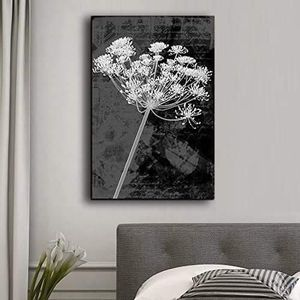 ((FREE SHIPPING)) vintage styled bouquet of flowers in black and white - canvas art home decor Painting like print for Sale in New York, NY