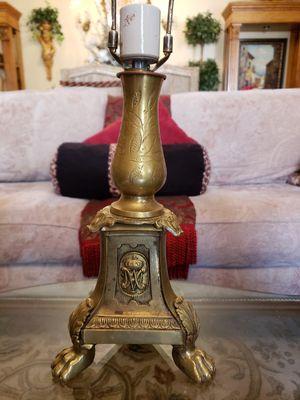 Beautiful antique brass lion foot lamp for Sale in Boynton Beach, FL
