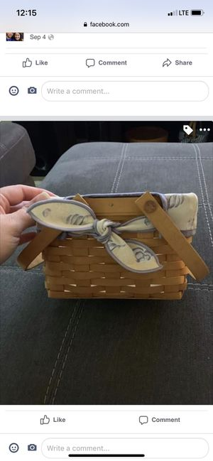 Longaberger seashell basket for Sale in Sanford, FL