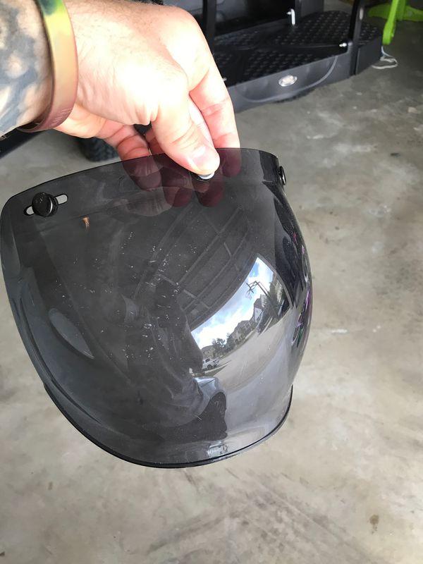 Men's Biltwell Motorcycle Helmet with visor. Minor scratches. Lightly used