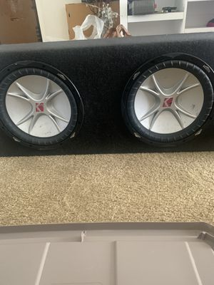 "Music 2 15"" subwoofers and box for Sale in Rancho Cucamonga, CA"