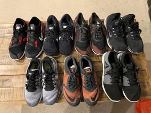 Seven Pair Of Trainers Shoes Six Nike One Reebok Size 12 for Sale in Alexandria, VA