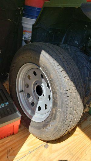 205/75/15 trailer tire and rim for Sale in Charlottesville, VA