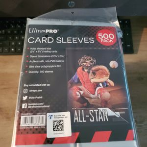 Ultra Pro 500 Pack of Card Sleeves Standard for Sale in Westminster, CA