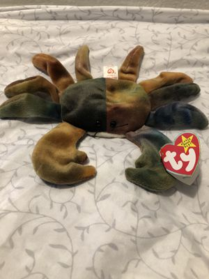 TY BEANIE BABY CLUADE THE CRAB COLLECTABLE for Sale in Sacramento, CA