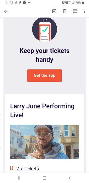 Larry June Berkley ticket for Sale in Daly City, CA