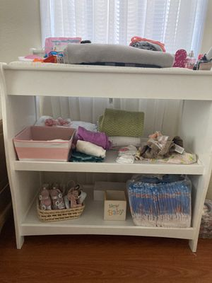 Changing table with storage space for Sale in San Leandro, CA