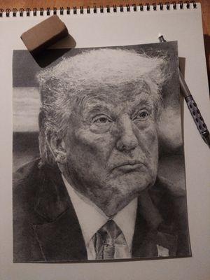 Original Framed Trump Pencil Art for Sale in Vidalia, GA