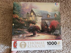 Thomas kinkade 1000pc puzzle for Sale in Adelphi, MD
