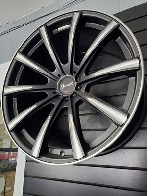 "20"" staggered Gianelle Cuba 10 black ball cut accent fits Mercedes BMW audi Chevy rims for Sale in Tempe, AZ"